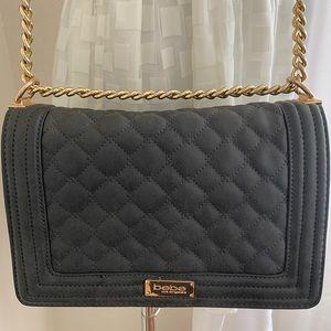 Black/Gray Quilted Handbag by BeBe